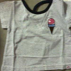 Girls striped ice cream tee (3T)